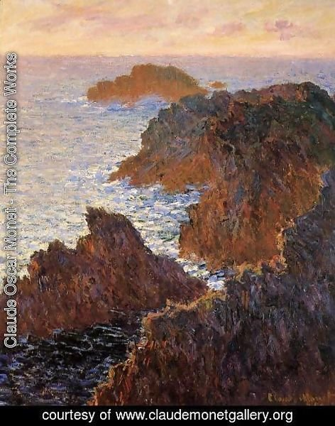 Claude Oscar Monet - Rocks At Belle Ile  Port Domois