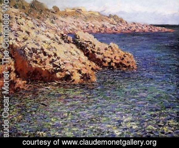 Claude Oscar Monet - Rocks On The Mediterranean Coast Aka Cam D Antibes