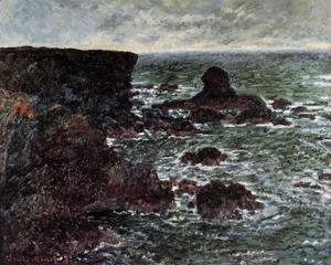 Claude Oscar Monet - Rocky Coast And The Lion Rock  Bele Ile