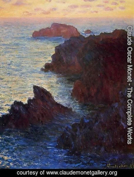 Claude Oscar Monet - Rocky Point At Port Goulphar