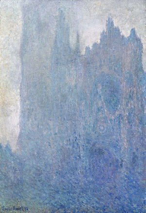 Rouen Cathedral In The Fog