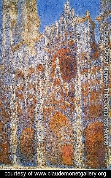 Claude Oscar Monet - Rouen Cathedral  Sunlight Effect