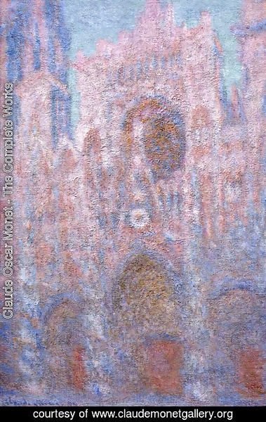 Claude Oscar Monet - Rouen Cathedral  Symphony In Grey And Rose