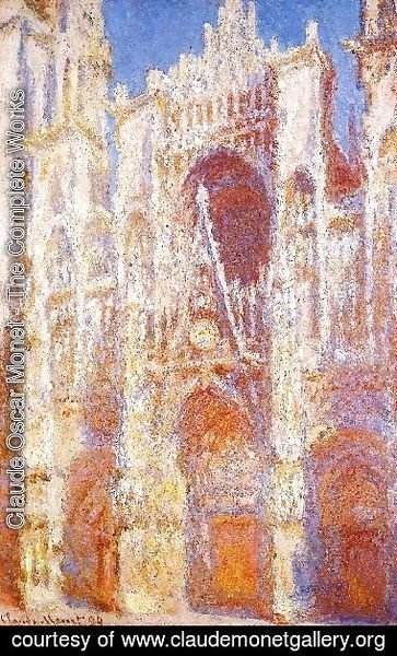 Claude Oscar Monet - Rouen Cathedral  The Portal In The Sun