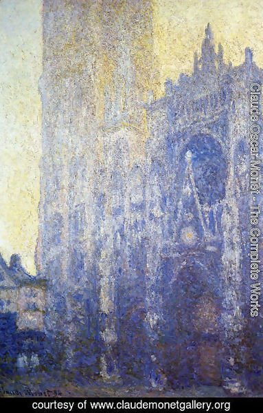 Claude Oscar Monet - Rouen Cathedral  The Portal And The Tour D Albane  Morning Effect