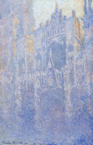 Claude Oscar Monet - Rouen Cathedral  The Portal  Morning Fog