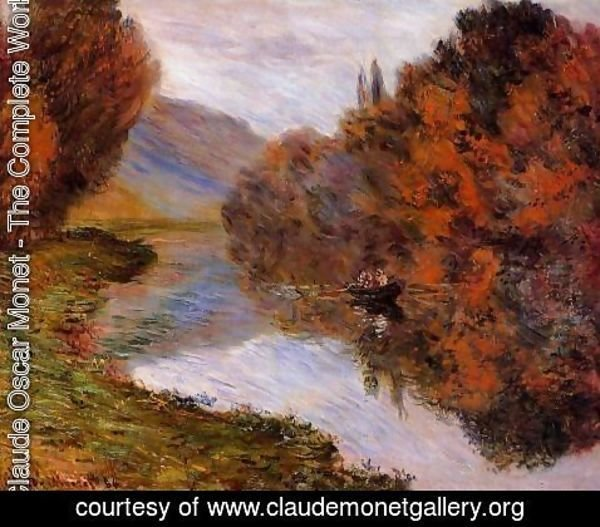 Claude Oscar Monet - Rowboat On The Seine At Jeufosse