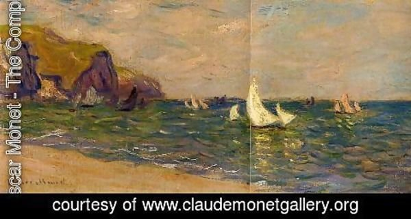 Claude Oscar Monet - Sailboats At Sea  Pourville