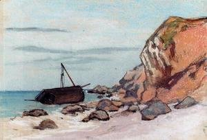 Claude Oscar Monet - Saint Adresse  Beached Sailboat