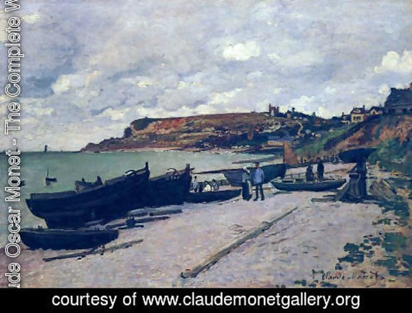 Claude Oscar Monet - Sainte Adresse  Fishing Boats On The Shore