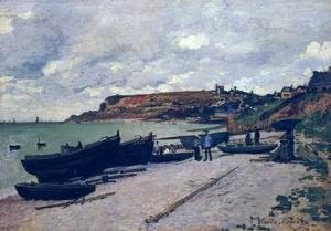 Sainte Adresse  Fishing Boats On The Shore