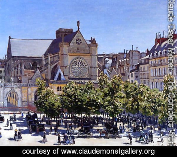 Claude Oscar Monet - Saint Germain L Auxerrois