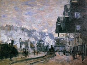 Claude Oscar Monet - Saint Lazare Station  The Western Region Goods Sheds