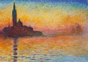 Claude Oscar Monet - San Giorgio Maggiore At Dusk