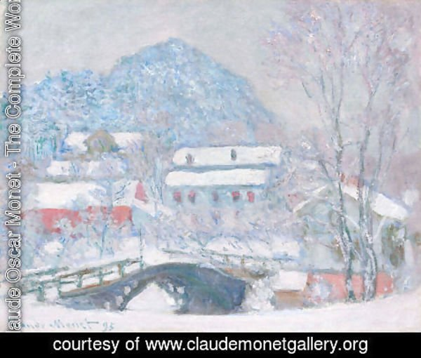 Claude Oscar Monet - Sandviken Village In The Snow
