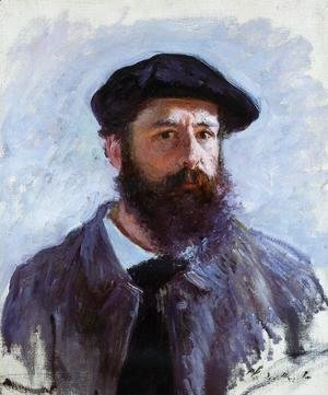 Claude Oscar Monet - Self Portrait With A Beret