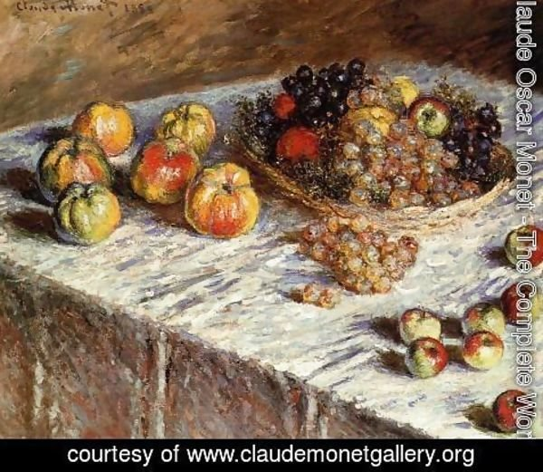Claude Oscar Monet - Still Life   Apples And Grapes