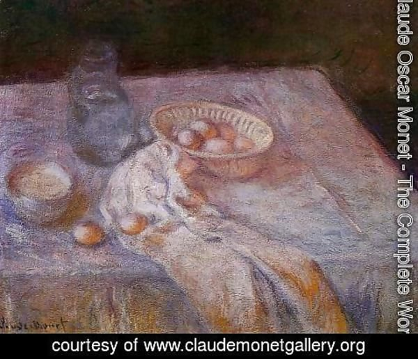 Claude Oscar Monet - Still Life With Eggs