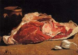 Claude Oscar Monet - Still Life With Meat