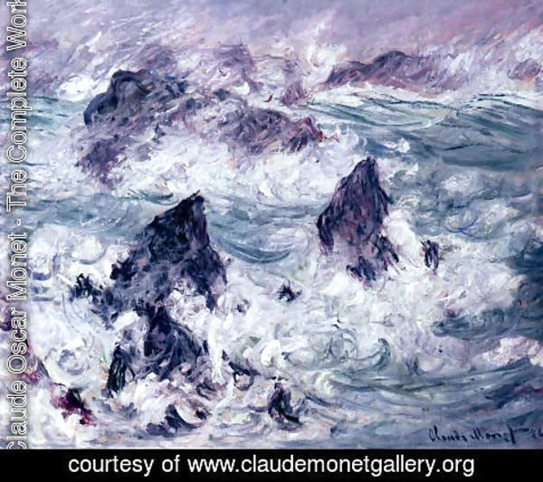 Claude Oscar Monet - Storm At Belle Ile