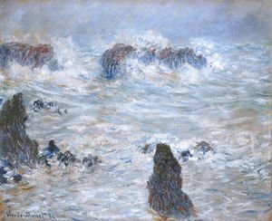 Claude Oscar Monet - Storm Off The Belle Ile Coast