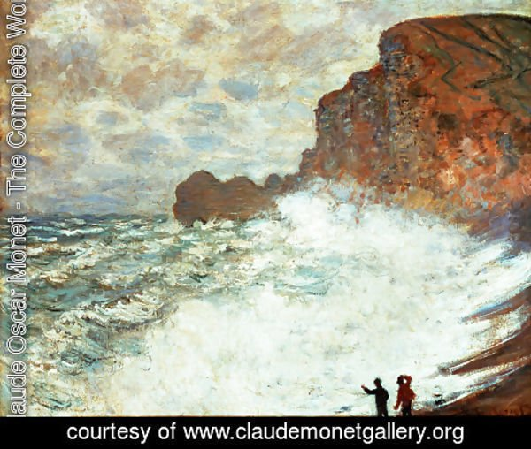 Claude Oscar Monet - Stormy Weather At Etretat