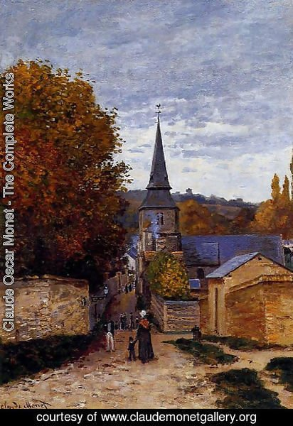 Claude Oscar Monet - Street In Saint Adresse