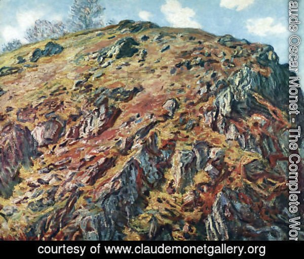 Claude Oscar Monet - Study Of Rocks Aka Le Bloc