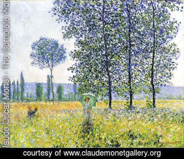 Claude Oscar Monet - Sunlight Effect Under The Poplars