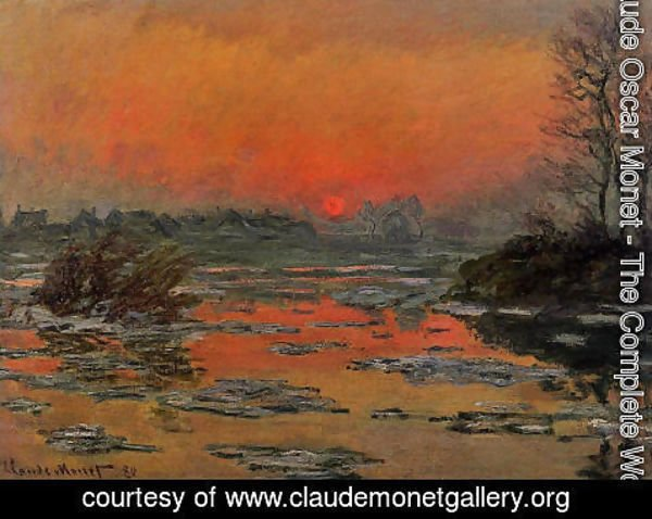 Claude Oscar Monet - Sunset On The Seine In Winter