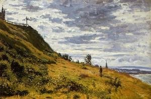 Claude Oscar Monet - Taking A Walk On The Cliffs Of Sainte Adresse