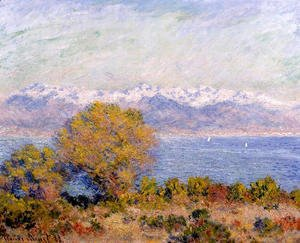 Claude Oscar Monet - The Alps Seen From Cap D Antibes