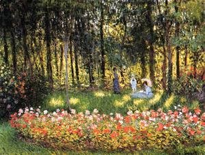 Claude Oscar Monet - The Artists Family In The Garden