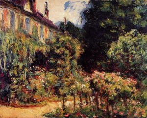 Claude Oscar Monet - The Artists House At Giverny