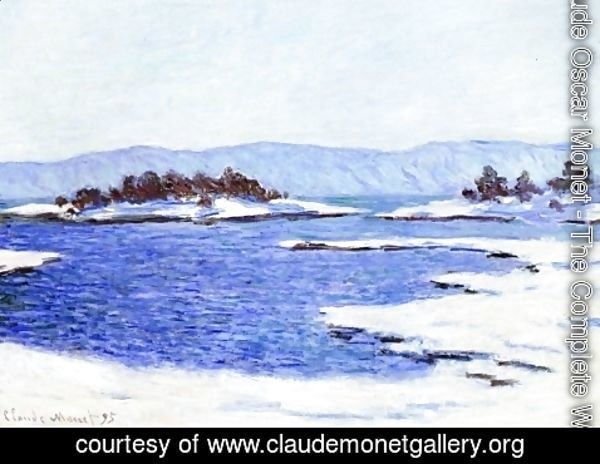 Claude Oscar Monet - The Banks Of The Fjord At Christiania