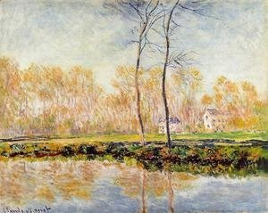 Claude Oscar Monet - The Banks Of The River Epte At Giverny