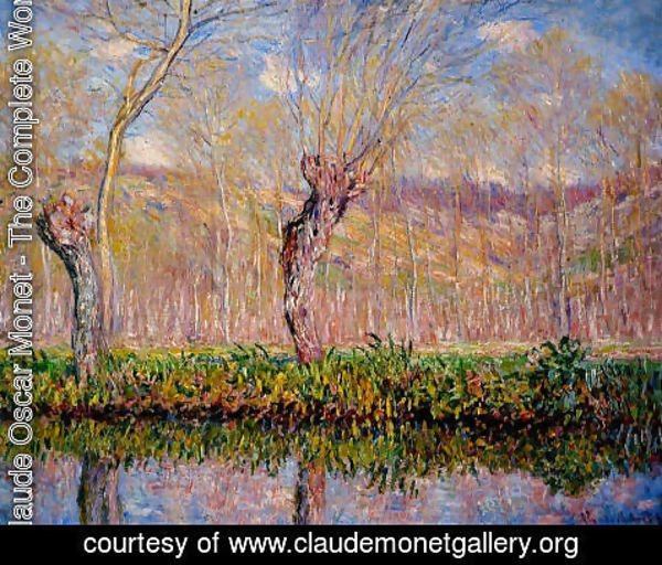 Claude Oscar Monet - The Banks Of The River Epte In Springtime