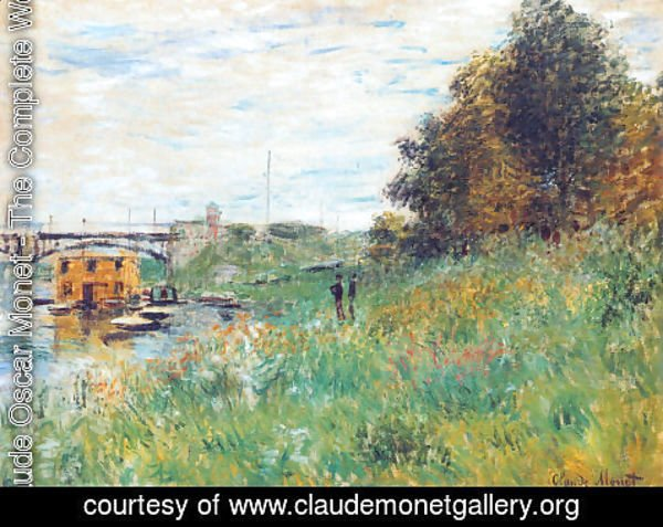 Claude Oscar Monet - The Banks Of The Seine At The Argenteuil Bridge