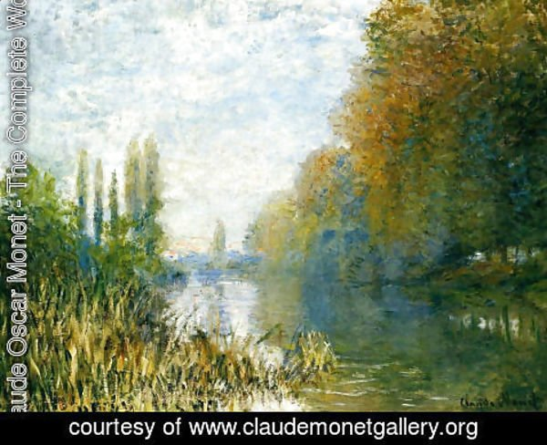 Claude Oscar Monet - The Banks Of The Seine In Autumn