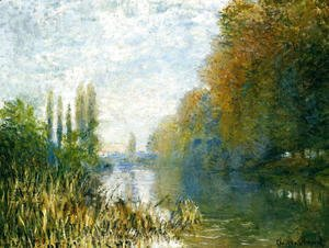 The Banks Of The Seine In Autumn