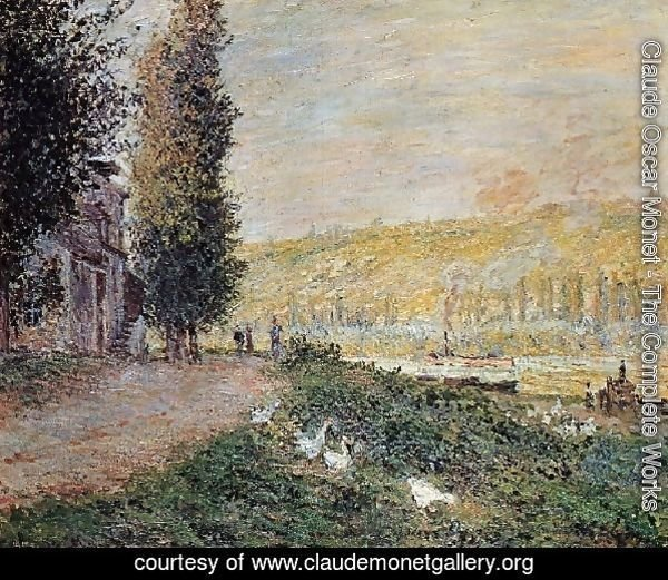 The Banks Of The Seine  Lavacour