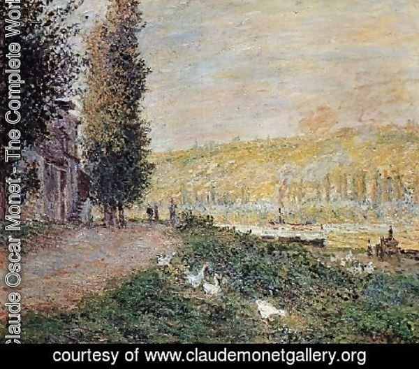 Claude Oscar Monet - The Banks Of The Seine  Lavacour