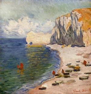 Claude Oscar Monet - The Beach And The Falaise D Amont