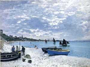 Claude Oscar Monet - The Beach At Sainte Adresse