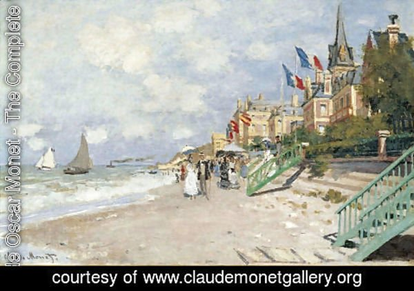 Claude Oscar Monet - The Beach At Trouville2