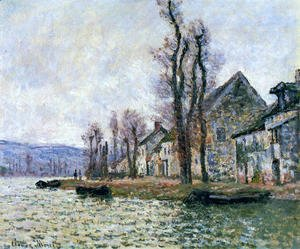 Claude Oscar Monet - The Bend Of The Seine At Lavacourt  Winter