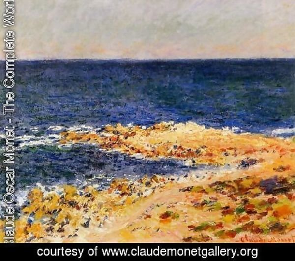 Claude Oscar Monet - The Big Blue At Antibes Aka The Seat At Antibes