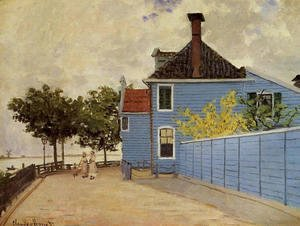 Claude Oscar Monet - The Blue House At Zaandam