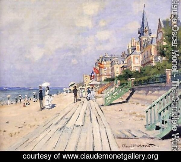 Claude Oscar Monet - The Boardwalk At Trouville