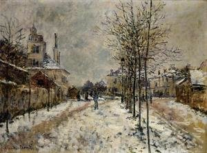 The Boulevard De Pontoise At Argenteuil  Snow Effect